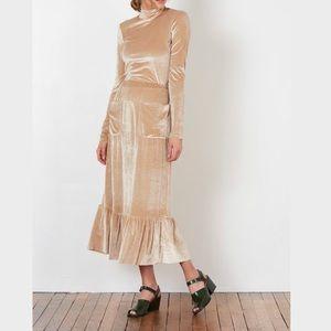 No. 6 Store Velvet Ruffle Skirt